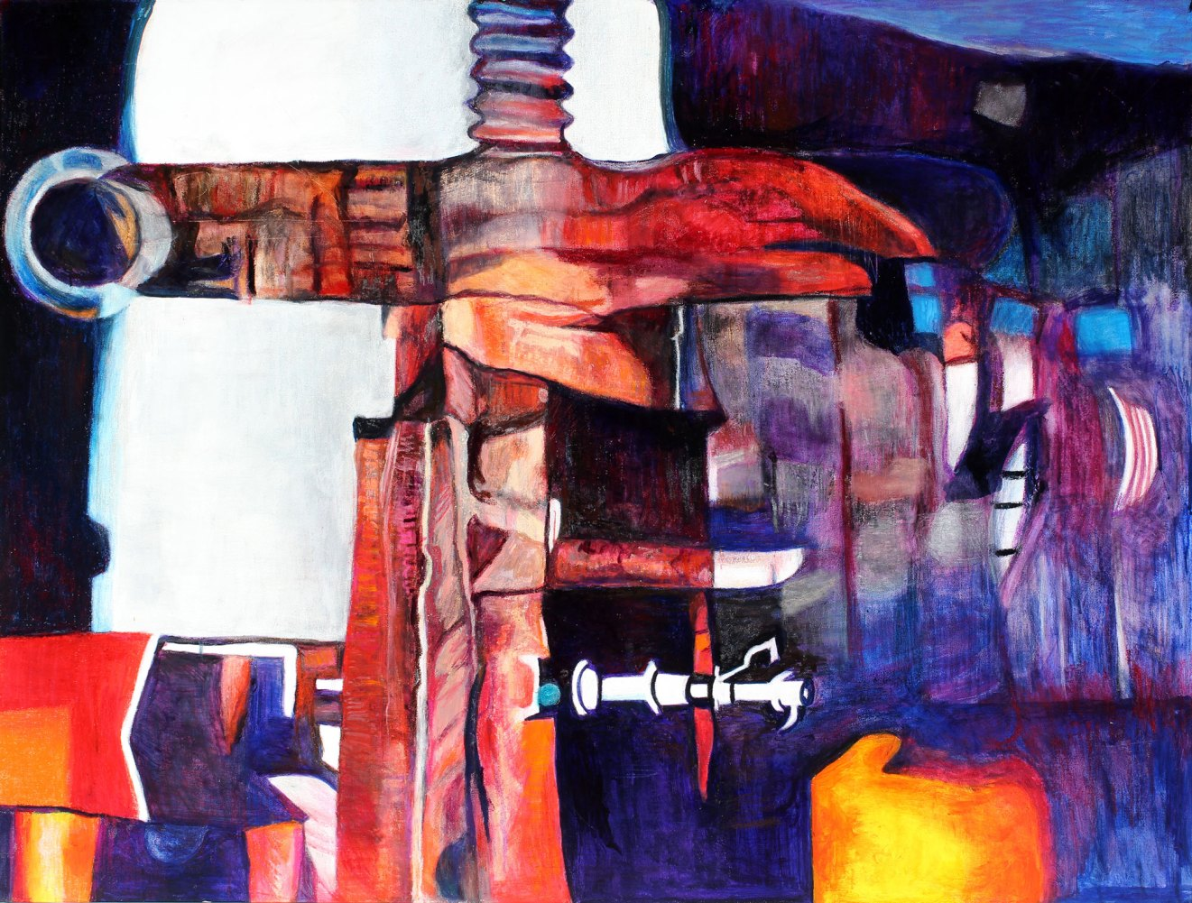 """Little Squeeze 36"""" x 47"""" Mixed Media on Paper"""