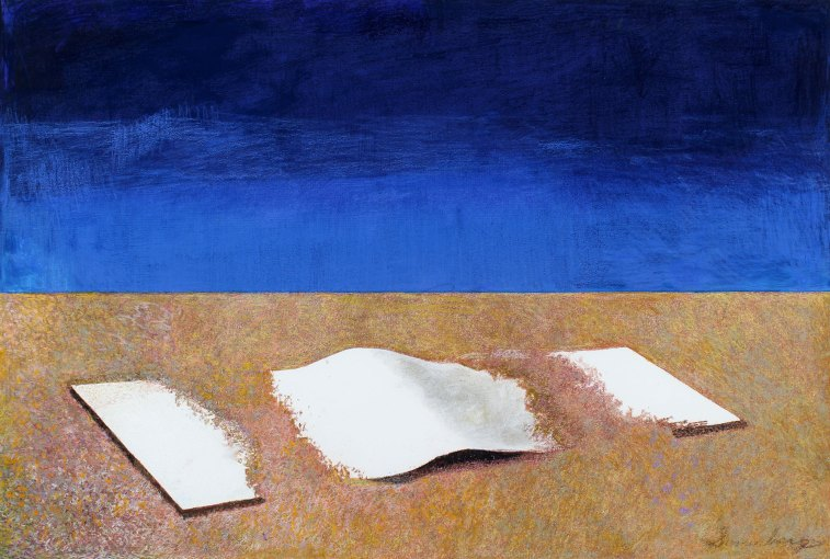 """Three Sheets To The Wind 33"""" x 50"""" Mixed Media on Paper"""