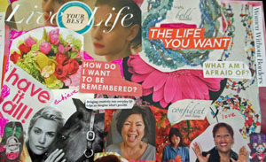 This is a photo of the Blog Inspiration vision Board representing Living the Life you want