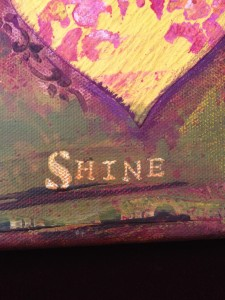 "An image showing the addition of the word """"Shine"" to the collage"