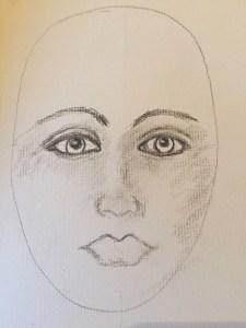 Face Sketch - Taking Shape