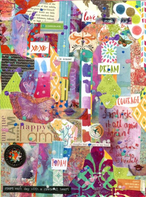 I Will Risk It All Again and Again – Collaged Journal