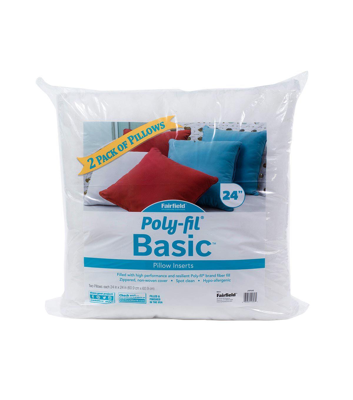 poly fil basic 2pk 16 x16 pillow inserts