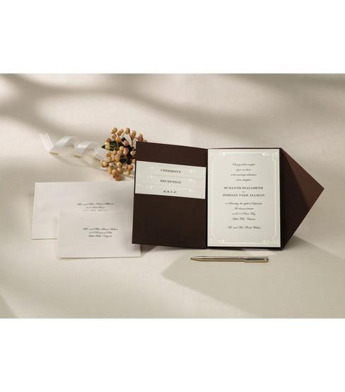 Invite Kit 25 Pieces Brown White