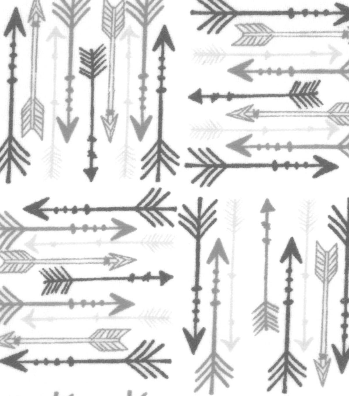 Snuggle Flannel Fabric 42 Grey Arrows