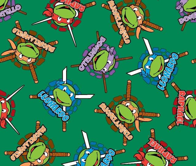 Nickelodeon Teenage Mutant Ninja Turtles Fleece Fabric Retro