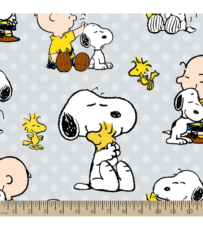 Peanuts Print Fabric Snoopy And Charlie JOANN