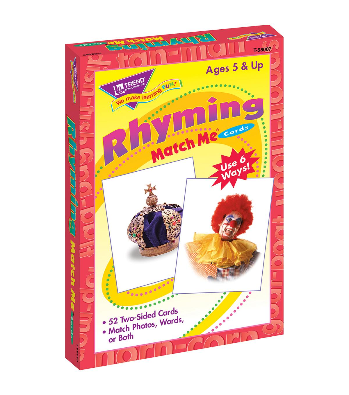 Trend Enterprises Inc Rhyming Words Match Me Cards 6