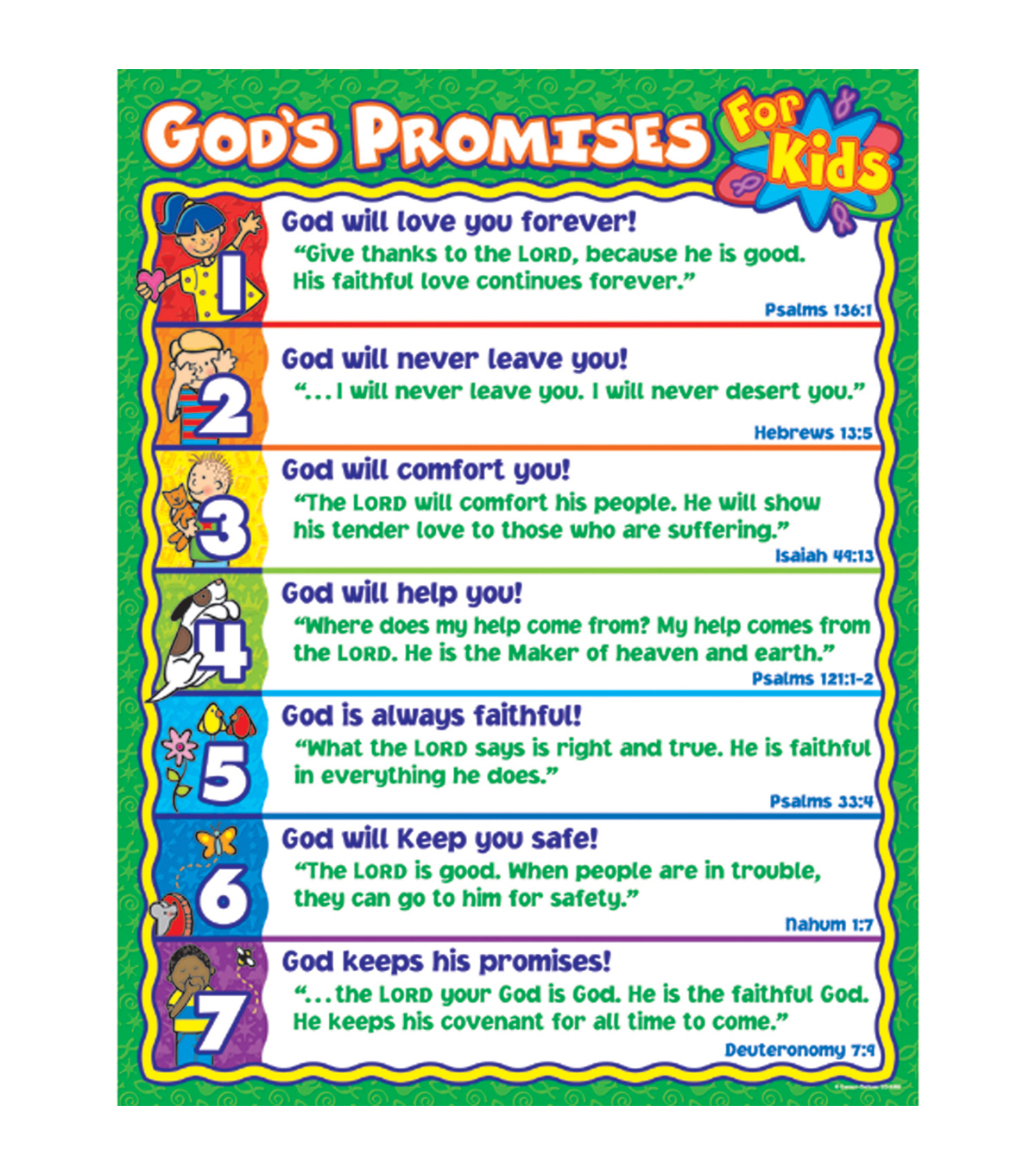 Carson Dellosa God S Promises For Kids Chart 6pk