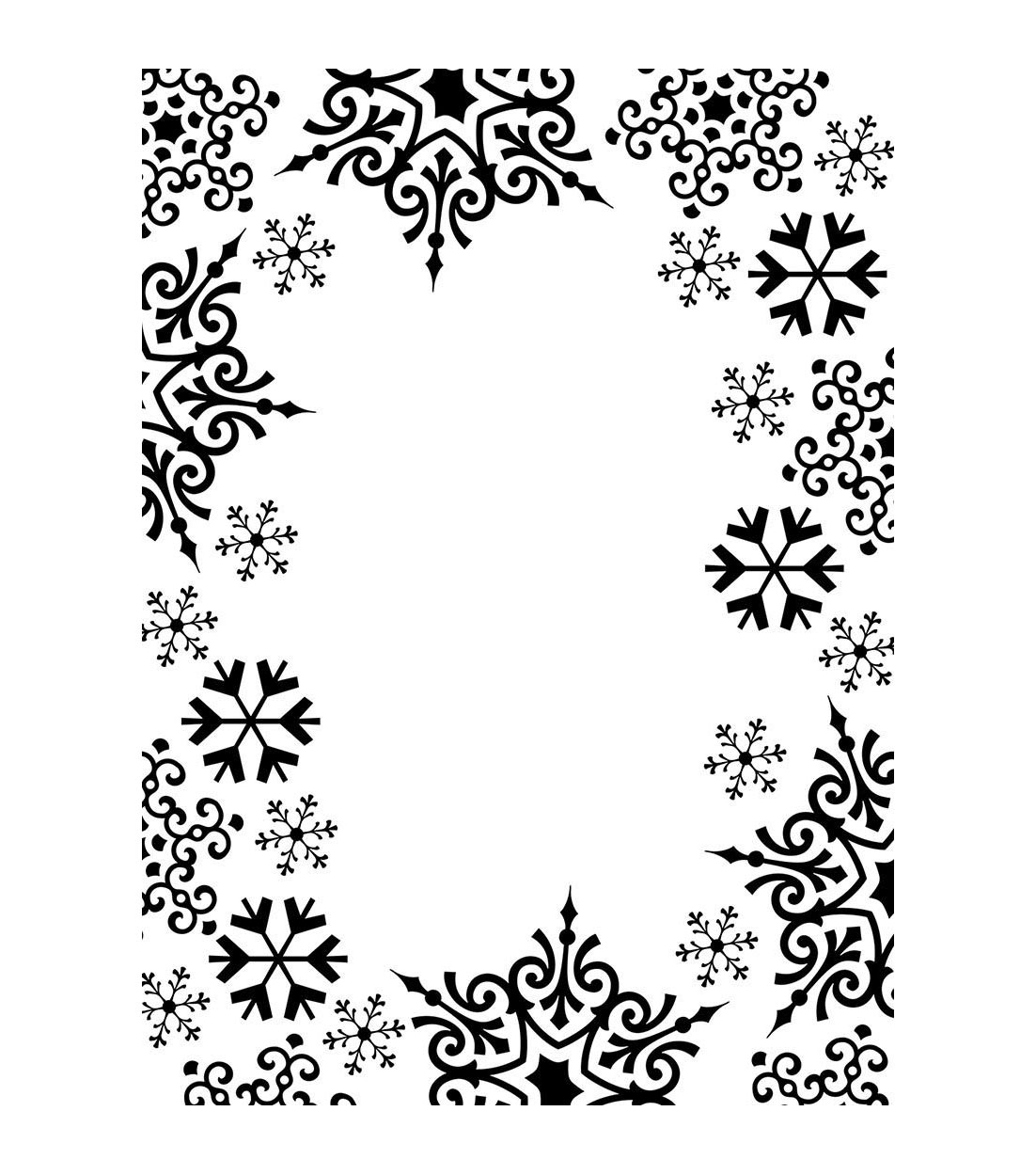 Embossing Folder 4 25 X5 75 Snowflake Trim