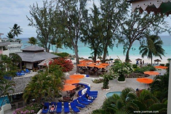Bougainvillea Beach Resort Pool and Beach view