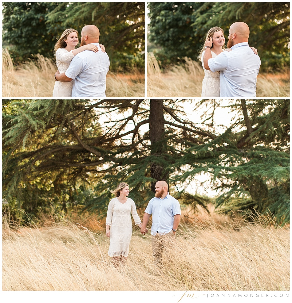 PNW forest feel engagement shoot at Discovery park in Seattle WA