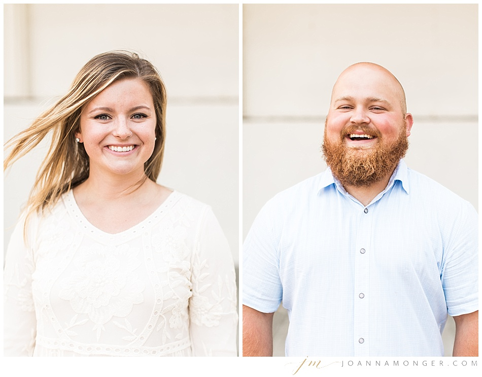 Engagement shoot at Discovery Park in Seattle - individual portraits of bride and groom
