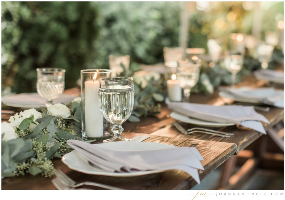 Photos of the tablescape from a gorgeously-detailed wedding at the Corson Building in SODO, Seattle, WA. | Joanna Monger Photography | Snohomish & Seattle Wedding Photographer