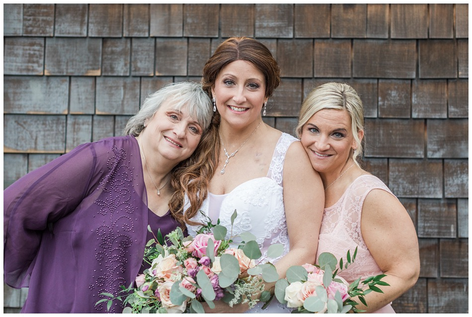 A photo of a bride and loved ones before her special winter wedding at Hidden Meadows, a wedding venue in Snohomish near Seattle, WA. | Joanna Monger Photography | Snohomish & Seattle Wedding Photography