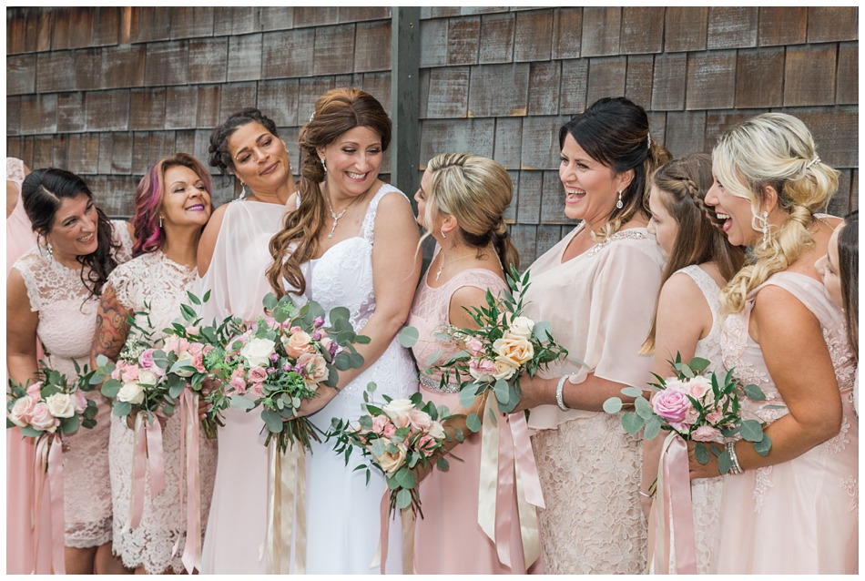 A photo of a bride and her bridal party before her special winter wedding at Hidden Meadows, a wedding venue in Snohomish near Seattle, WA. | Joanna Monger Photography | Snohomish & Seattle Wedding Photography