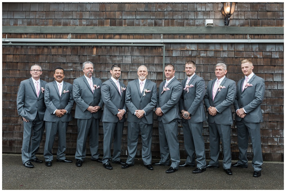 A photo of a groom and his groomsmen before his special winter wedding at Hidden Meadows, a wedding venue in Snohomish near Seattle, WA. | Joanna Monger Photography | Snohomish & Seattle Wedding Photography
