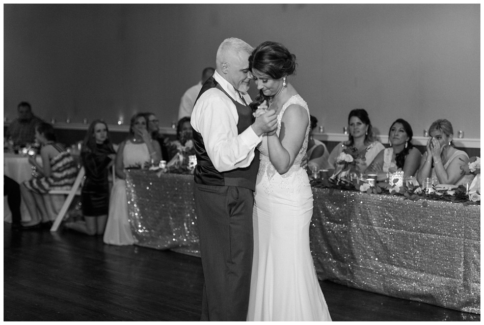 A bride and groom enjoy their first dance during the reception of their special winter wedding at Hidden Meadows, a wedding venue in Snohomish near Seattle, WA. | Joanna Monger Photography | Snohomish & Seattle Wedding Photography