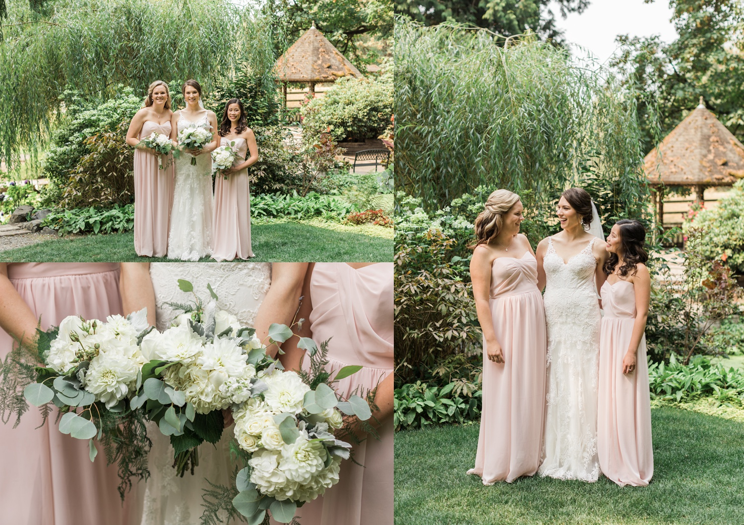 A photo of a bride and her bridal party before her wedding at Chateau Lill in Woodinville, a wedding venue near Seattle, WA.   Joanna Monger Photography   Seattle & Snohomish Photographer