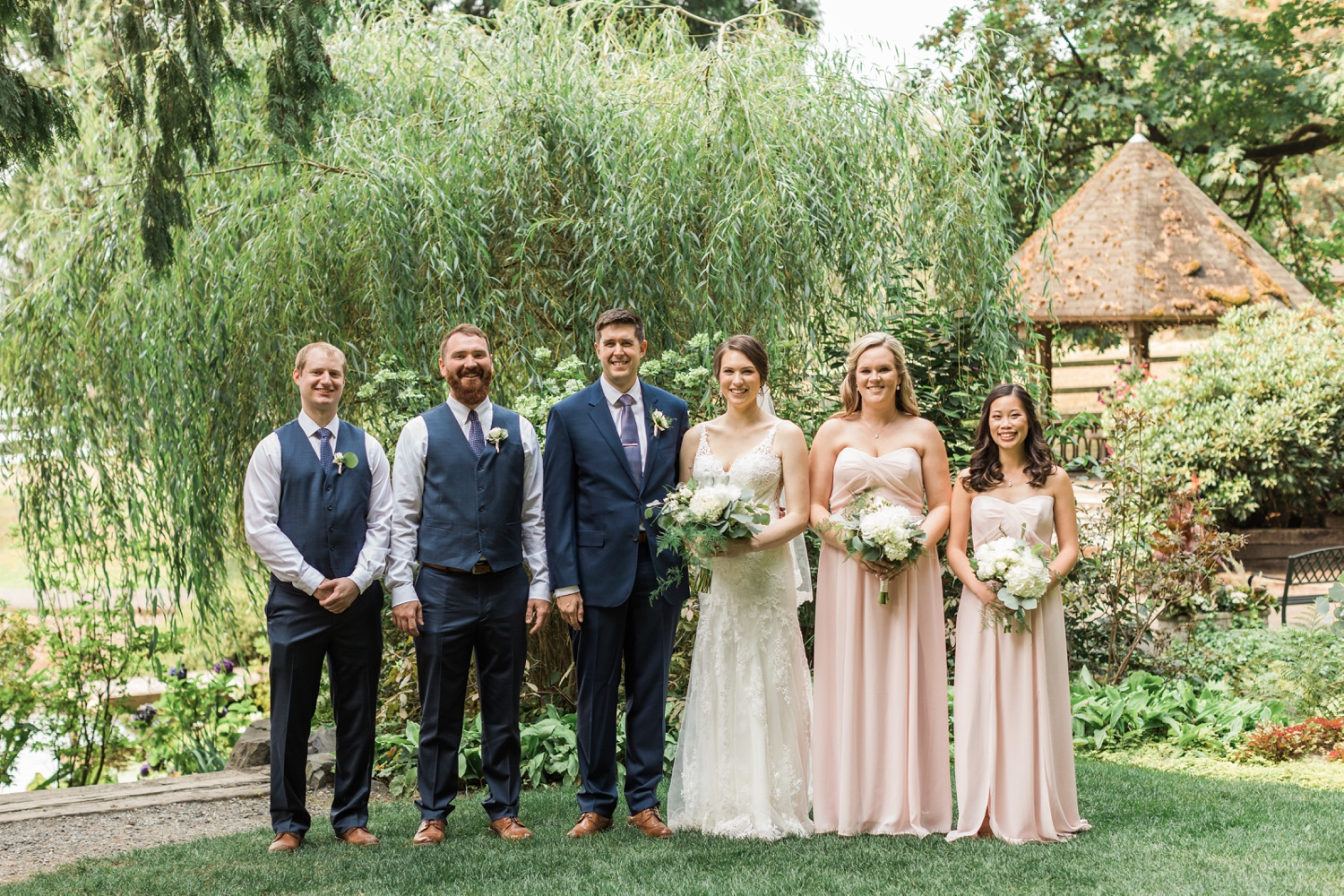 A photo of the wedding party before a wedding at Chateau Lill in Woodinville, a wedding venue near Seattle, WA. | Joanna Monger Photography | Seattle & Snohomish Photographer