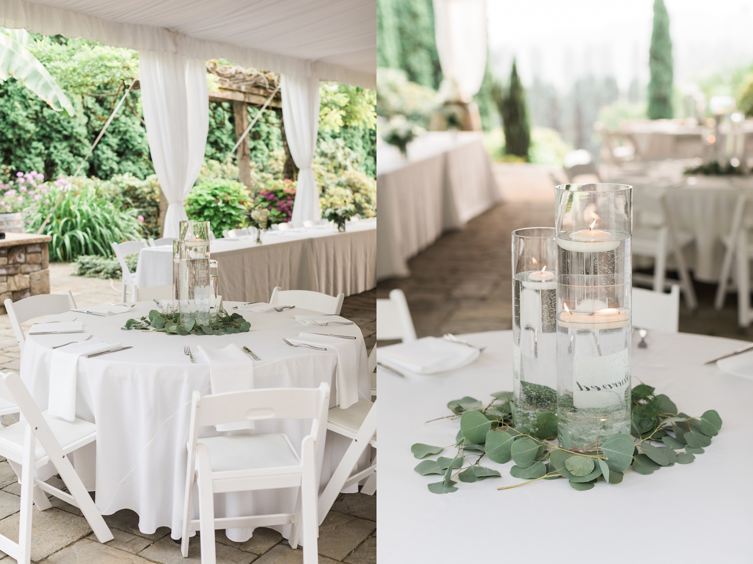 A photo of a reception area and table decor at a wedding at Chateau Lill in Woodinville, a wedding venue near Seattle, WA. | Joanna Monger Photography | Seattle & Snohomish Photographer