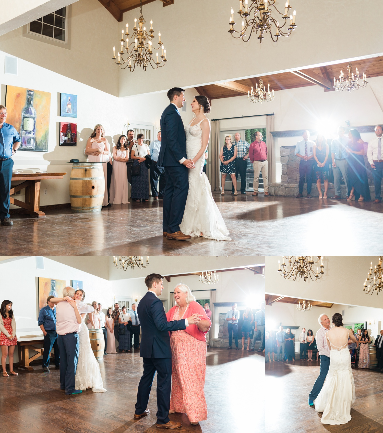 A bride and groom have their first dance at a wedding at Chateau Lill in Woodinville, a wedding venue near Seattle, WA. | Joanna Monger Photography | Seattle & Snohomish Photographer