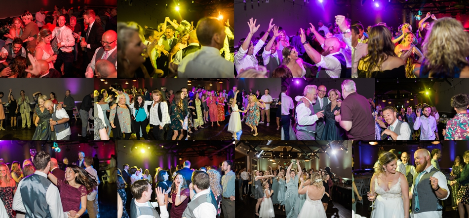 Photo of wedding party dancing after the reception at a Hidden Meadows Farms wedding in Snohomish, a rustic yet elegant wedding venue near Seattle. | Joanna Monger Photography
