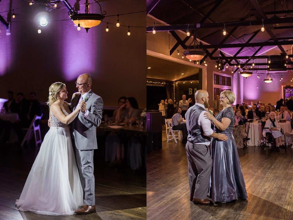 Photo of couple dancing with their parents at a Hidden Meadows Farms wedding in Snohomish, a rustic yet elegant wedding venue near Seattle. | Joanna Monger Photography