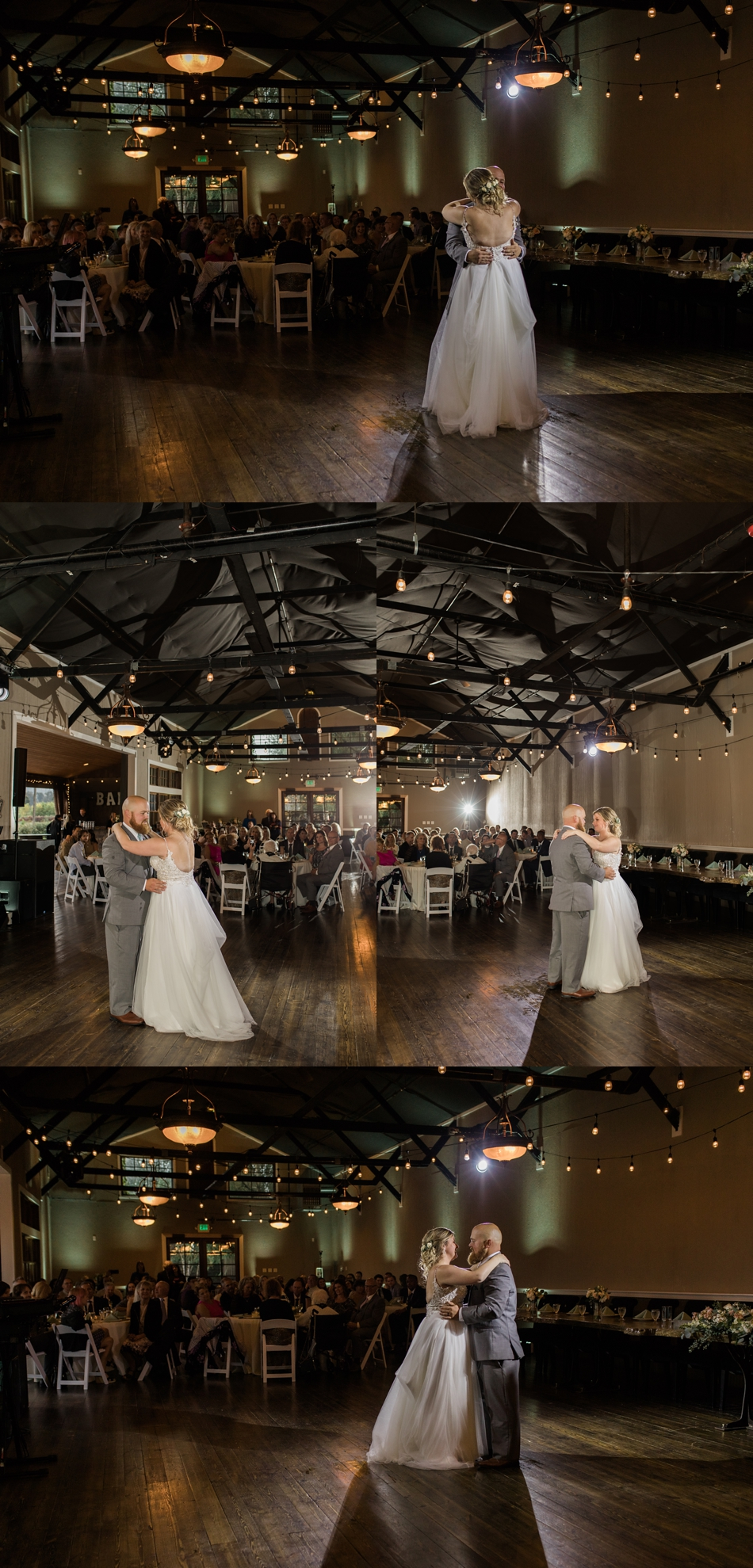 Photo of bride and groom dancing at a Hidden Meadows Farms wedding in Snohomish, a rustic yet elegant wedding venue near Seattle. | Joanna Monger Photography