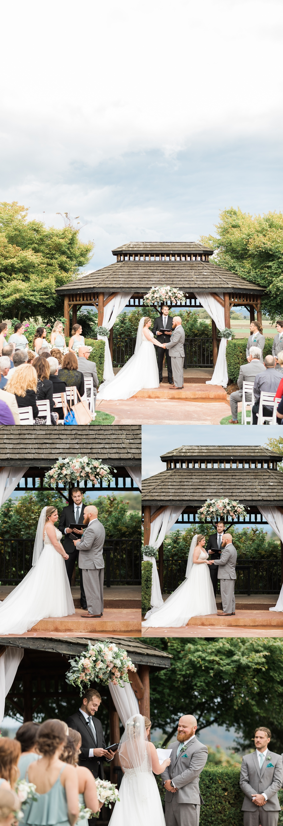 Photo of ceremony at a Hidden Meadows Farms wedding in Snohomish, a rustic yet elegant wedding venue near Seattle. | Joanna Monger Photography