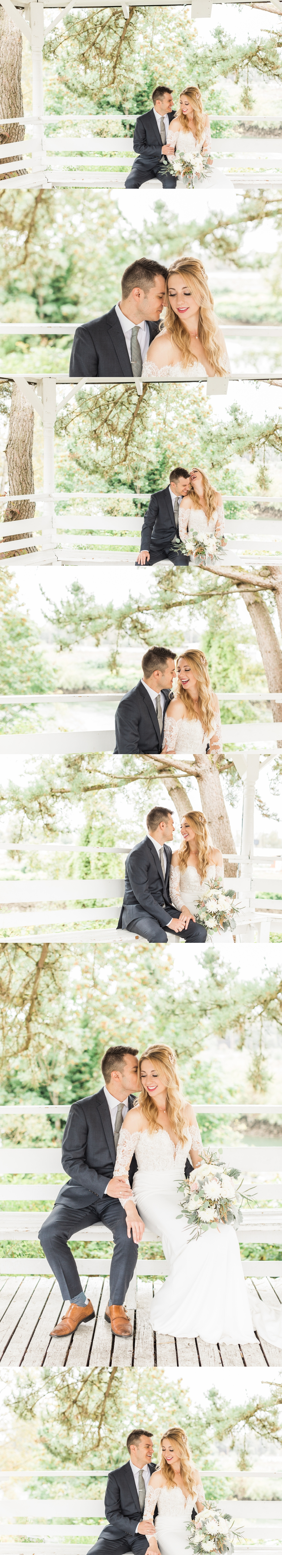 Photos of an intimate moment between bride and groom at an intimate wedding at Belle Chapel in Snohomish, a wedding venue near Seattle. | Joanna Monger Photography | Snohomish & Seattle Photographer