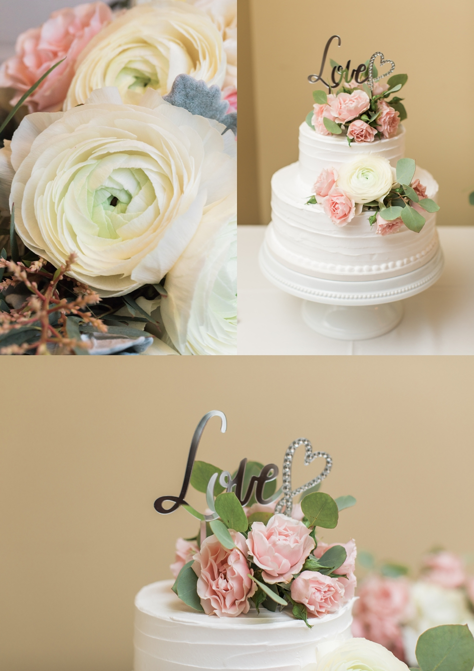 Photo of wedding cake at an intimate wedding at Belle Chapel in Snohomish, a wedding venue near Seattle.   Joanna Monger Photography   Snohomish & Seattle Photographer