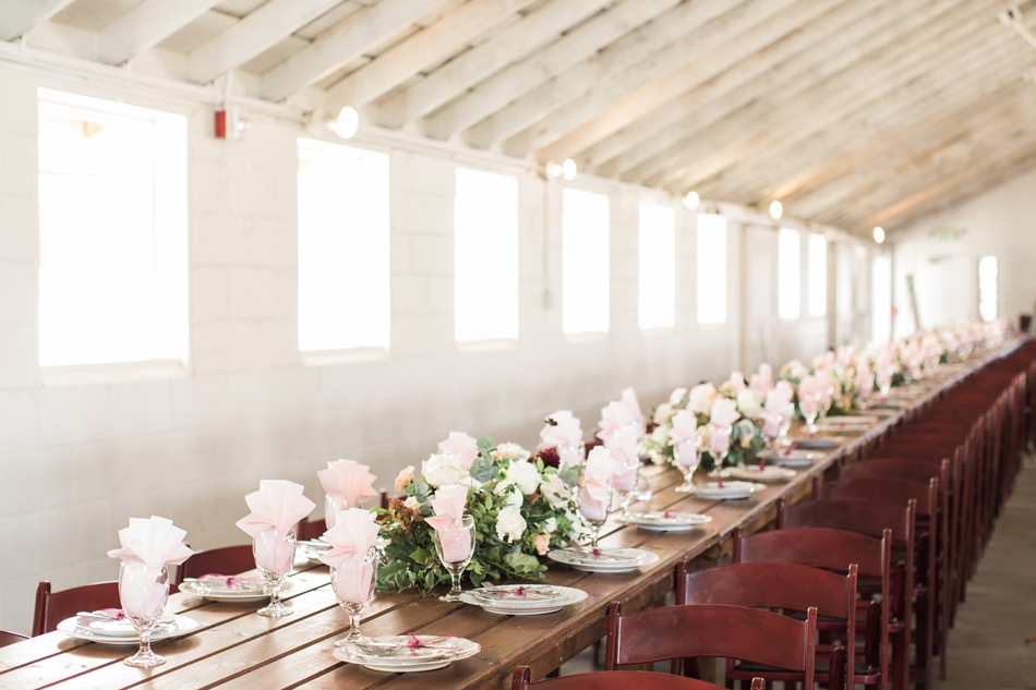 Photo of table decor at Snohomish Wedding Venue Dairyland Barn near Seattle | Joanna Monger Photography