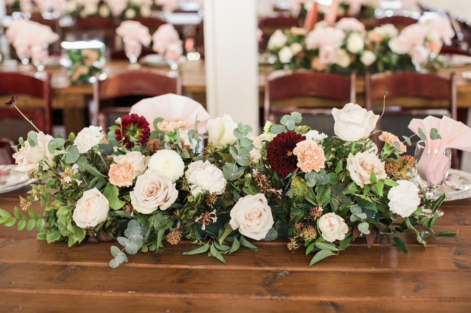Photo of floral arrangement at Snohomish Wedding Venue Dairyland Barn near Seattle | Joanna Monger Photography