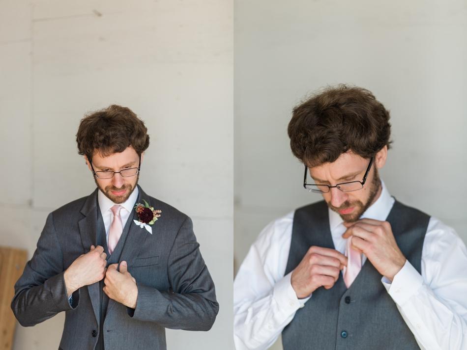 Photo of groom at Snohomish Wedding Venue Dairyland Barn near Seattle | Joanna Monger Photography