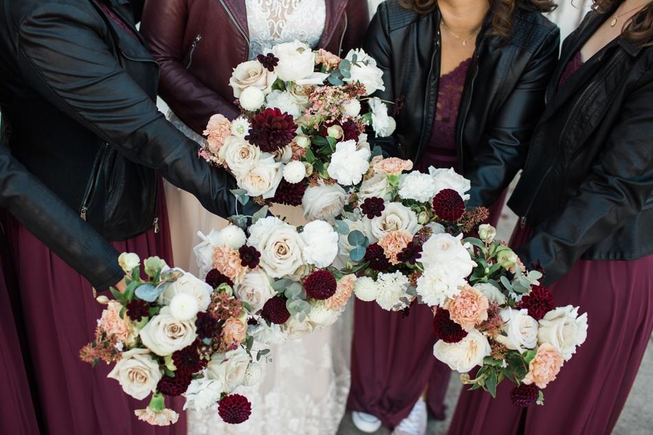 Photo of floral arrangements at Snohomish Wedding Venue Dairyland Barn near Seattle | Joanna Monger Photography