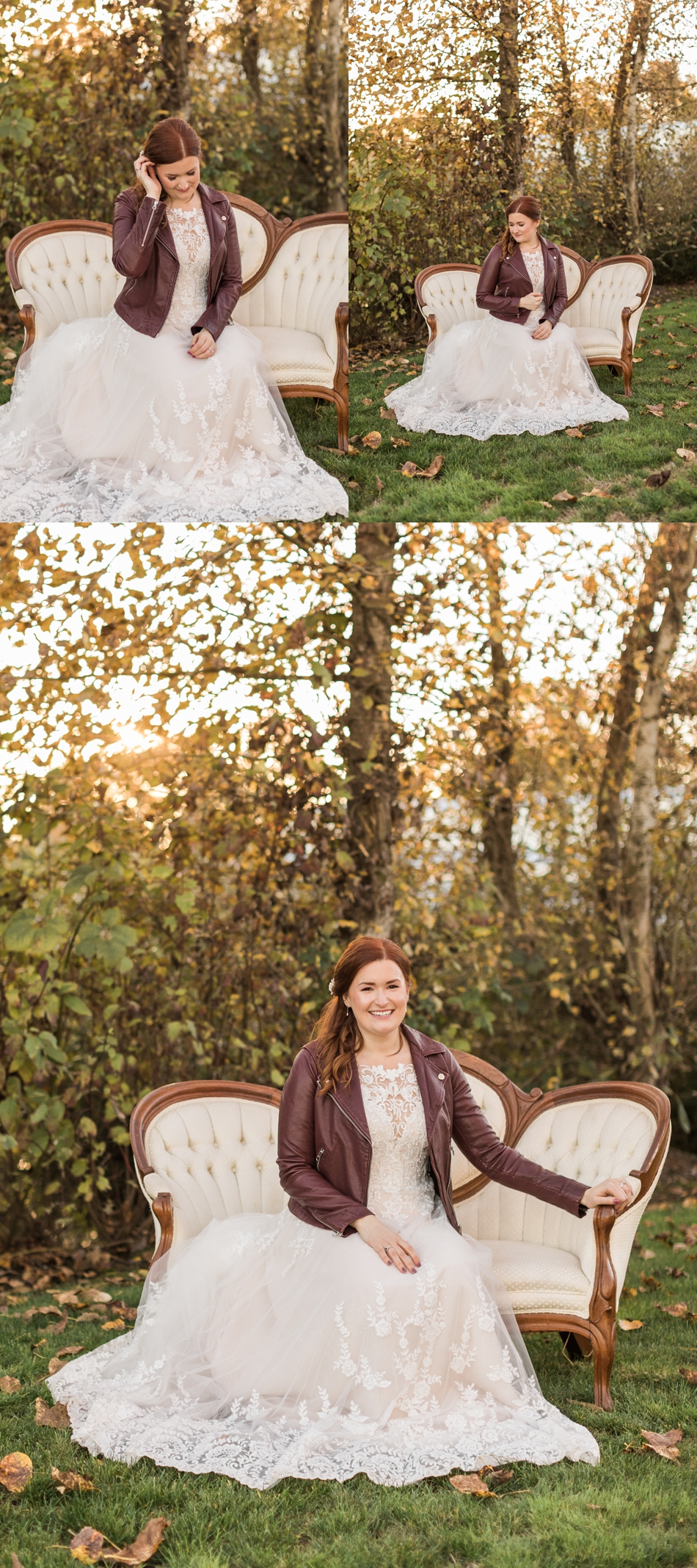 Photo of bride at sunset at Snohomish Wedding Venue Dairyland Barn near Seattle | Joanna Monger Photography