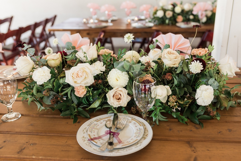 Photo of tableware Snohomish Wedding Venue Dairyland Barn near Seattle | Joanna Monger Photography