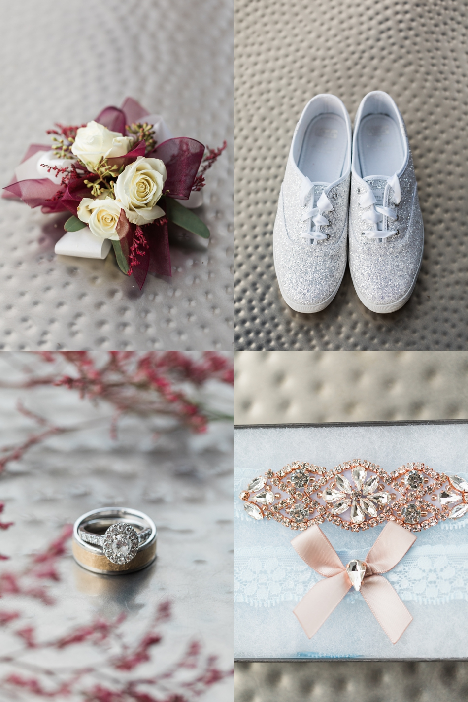 A photo of bridal accessories before a winter wedding at Hidden Meadows in Snohomish, a wedding venue near Seattle, WA. | Joanna Monger Photography | Snohomish & Seattle Wedding Photographer