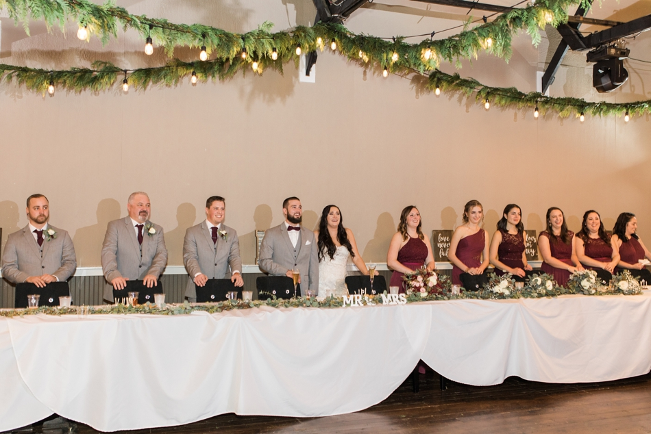 A photo during the reception toast at a winter wedding at Hidden Meadows in Snohomish, a wedding venue near Seattle, WA. | Joanna Monger Photography | Snohomish & Seattle Wedding Photographer