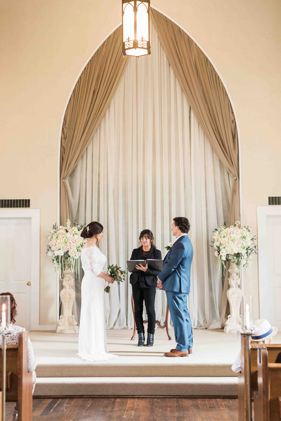 Photo from a ceremony of an intimate wedding at Belle Chapel in Snohomish, a wedding venue near Seattle, WA.   Joanna Monger Photography   Snohomish Wedding Photographer