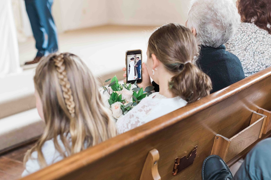 Photo of family during an intimate wedding at Belle Chapel in Snohomish, a wedding venue near Seattle, WA.   Joanna Monger Photography   Snohomish Wedding Photographer