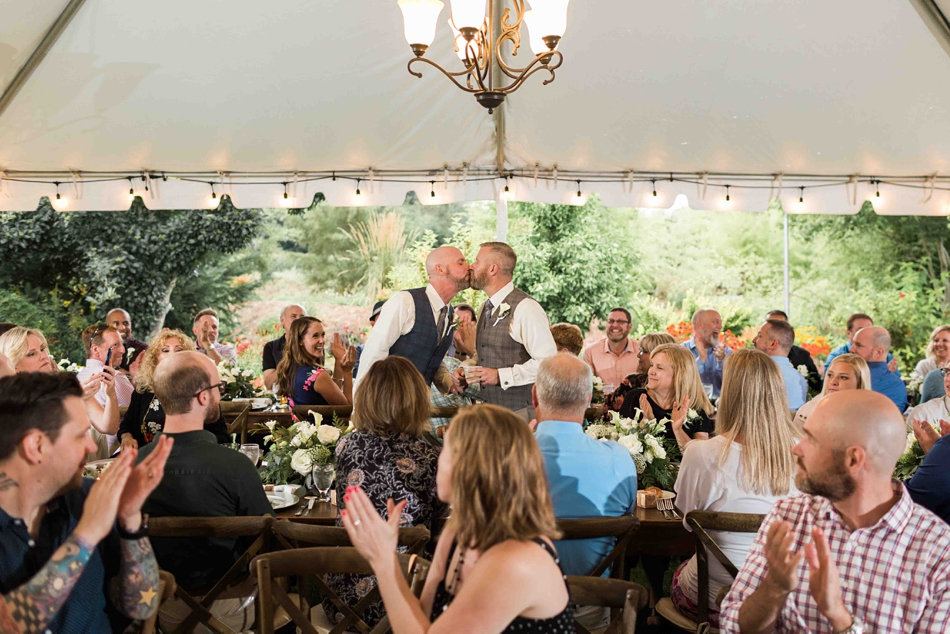 Under the chandelier at Falling Water Gardens in Monroe. Photos by Joanna Monger Photography, Snohomish and Seattle Wedding Photographer.
