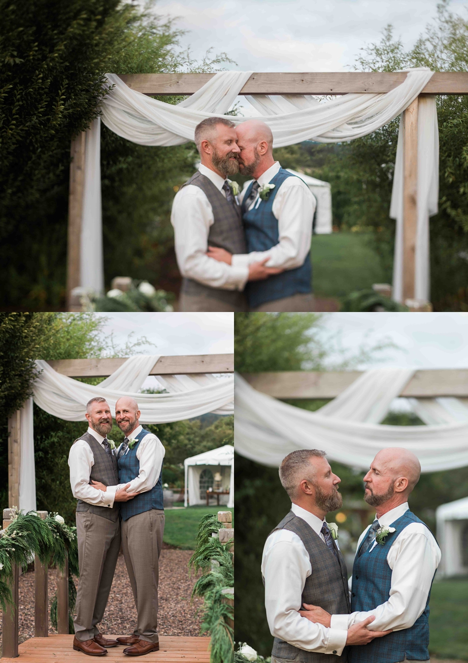 Happiness together at Falling Water Gardens in Monroe. Photographs by Joanna Monger Photography, Award Winning Snohomish Wedding Photographer.