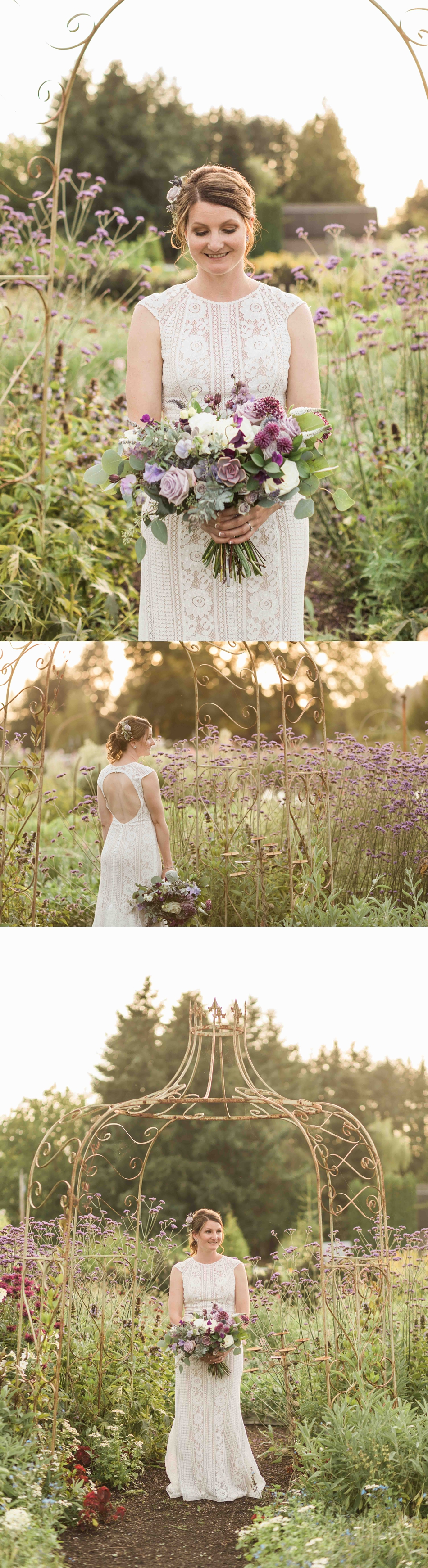 Holding flowers in a field at Pine Creek Nursery in Monroe. Photos by Joanna Monger Photography, Snohomish and Seattle Wedding Photographer.