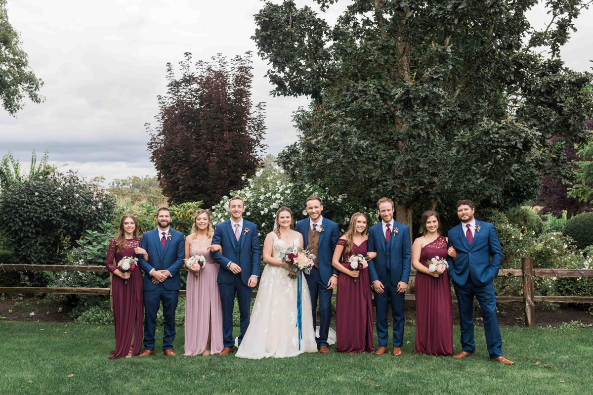 Wedding party at Craven Farms in Snohomish. Photographs by Joanna Monger Photography, Snohomish's Best Wedding Photographer.