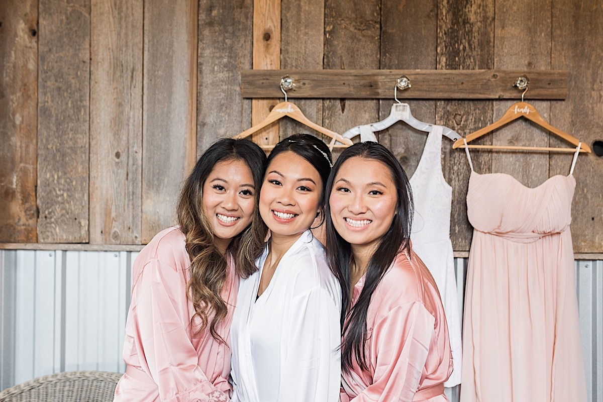 Bridesmaids looking amazing at Craven Farms in Snohomish. Photographs by Joanna Monger Photography, Snohomish's Best Wedding Photographer.