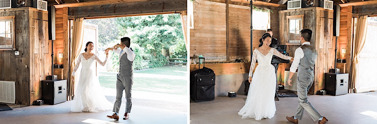 Getting ready to dance at Craven Farms in Snohomish. Photos by Joanna Monger Photography, Snohomish and Seattle Wedding Photographer.