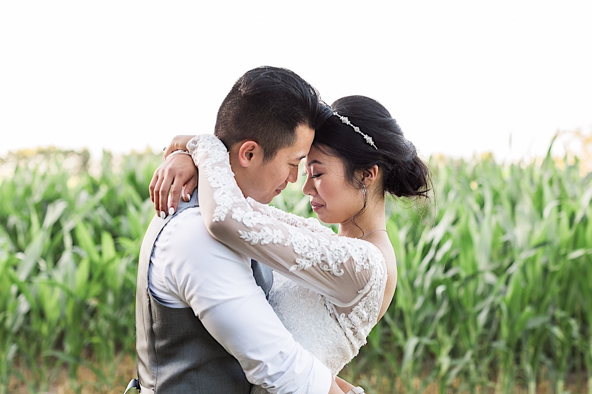 Deep in love at Craven Farms in Snohomish. Photographs by Joanna Monger Photography, Award Winning Snohomish Wedding Photographer.