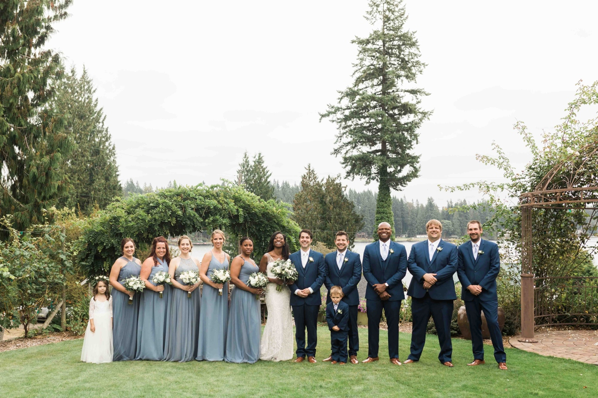 Wedding party at Green Gates at Flowing Lake. Photos by Joanna Monger Photography, Snohomish and Seattle Wedding Photographer.